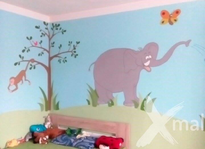 Malování zvířat v dětském pokoji