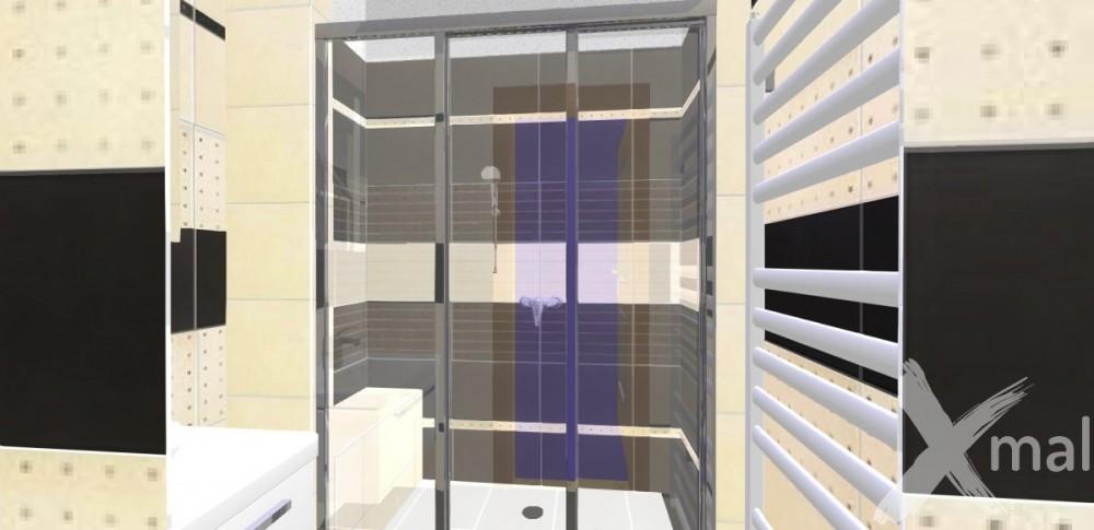 Návrh koupelny se sprchovým koutem
