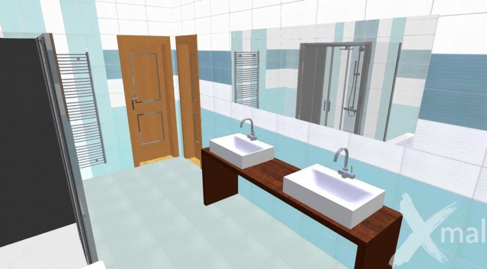 3D návrh interiéru koupelny