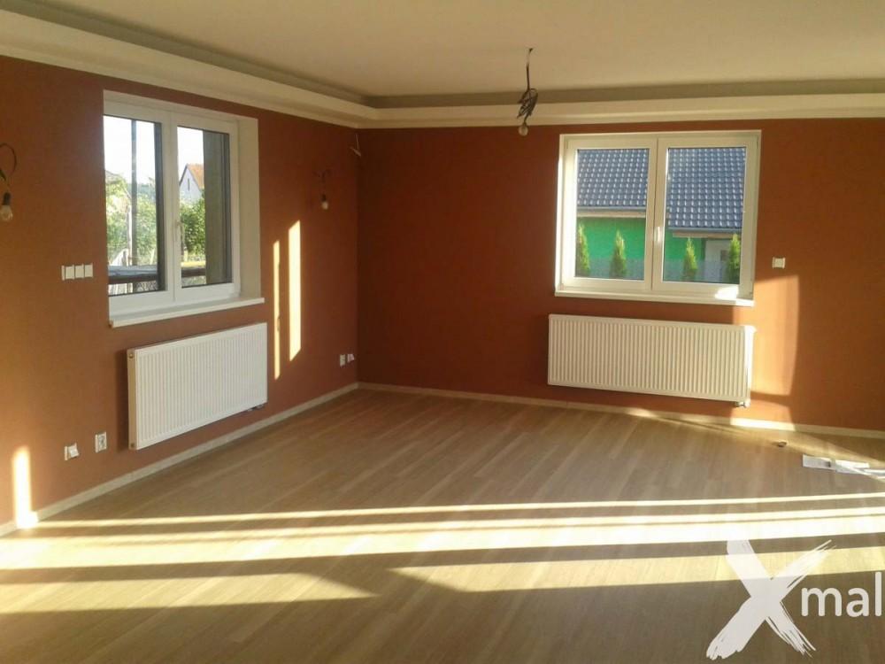 Malování hnědého obývacího pokoje - inspirace