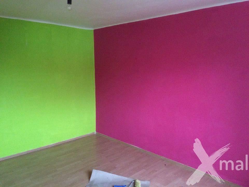 Syté barvy pokoje před malováním