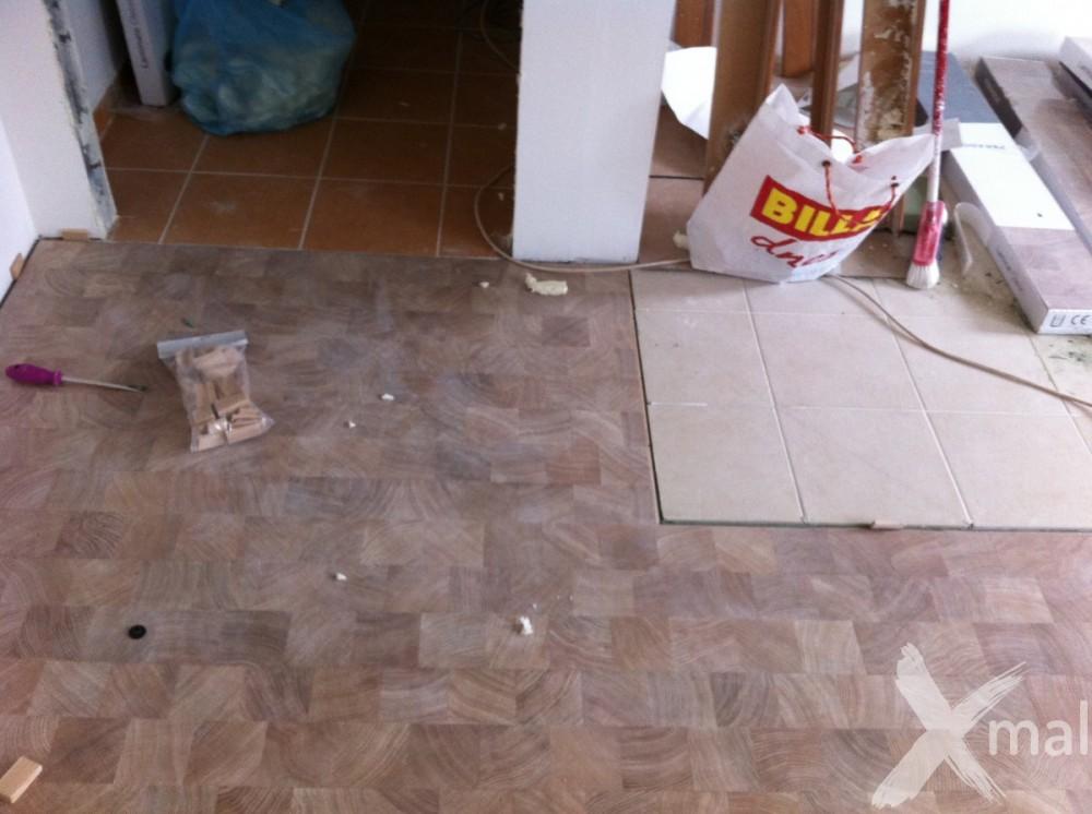 pokládka plovoucí podlahy 2