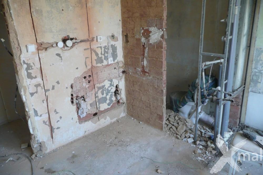 Průběh rekonstrukce bytového jádra