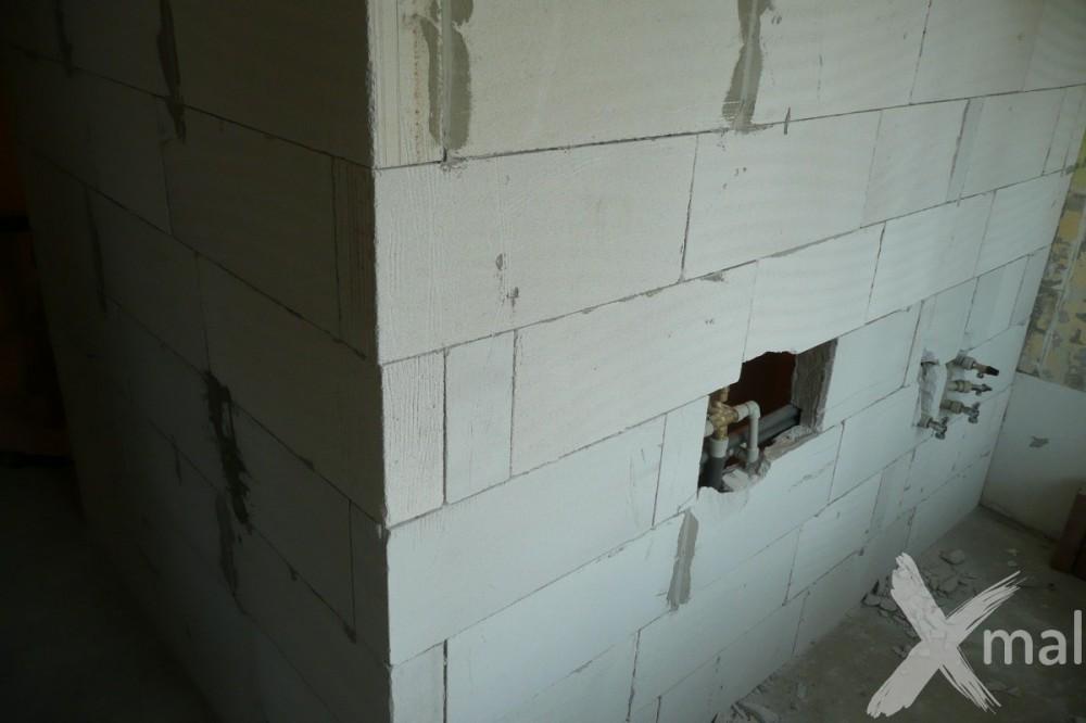 Nové stěny bytového jádra