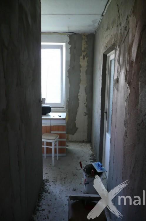 Štukování bytu v průběhu rekonstrukce