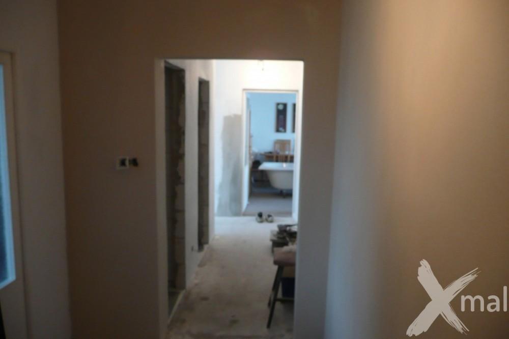 Nová štuková omítka v bytě