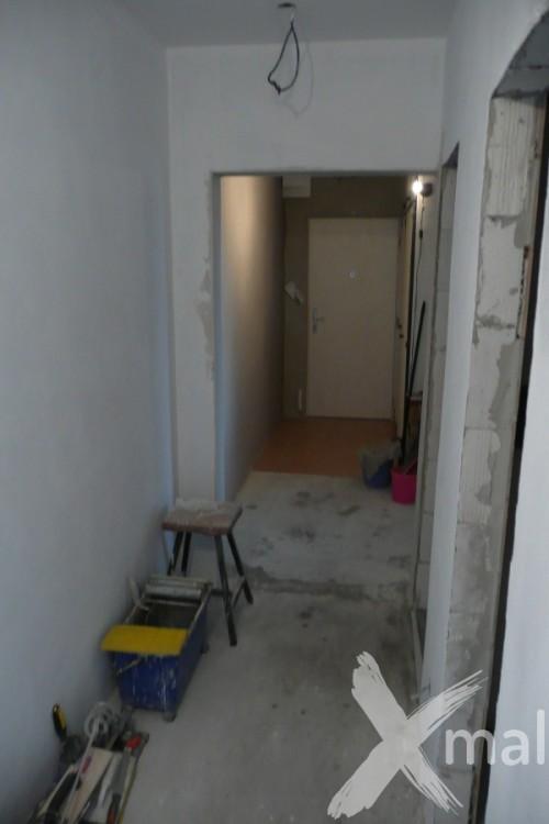 Chodby bytu během rekonstrukce