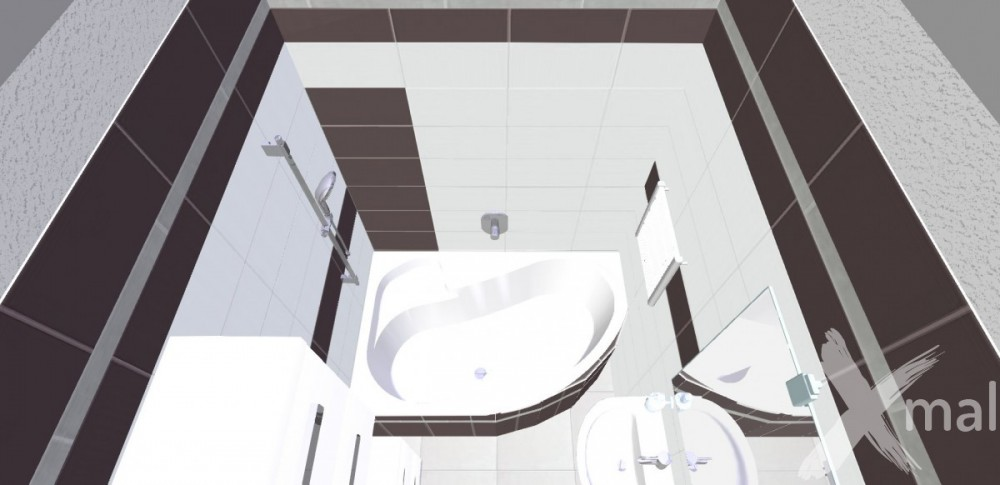 3D návrh koupelny