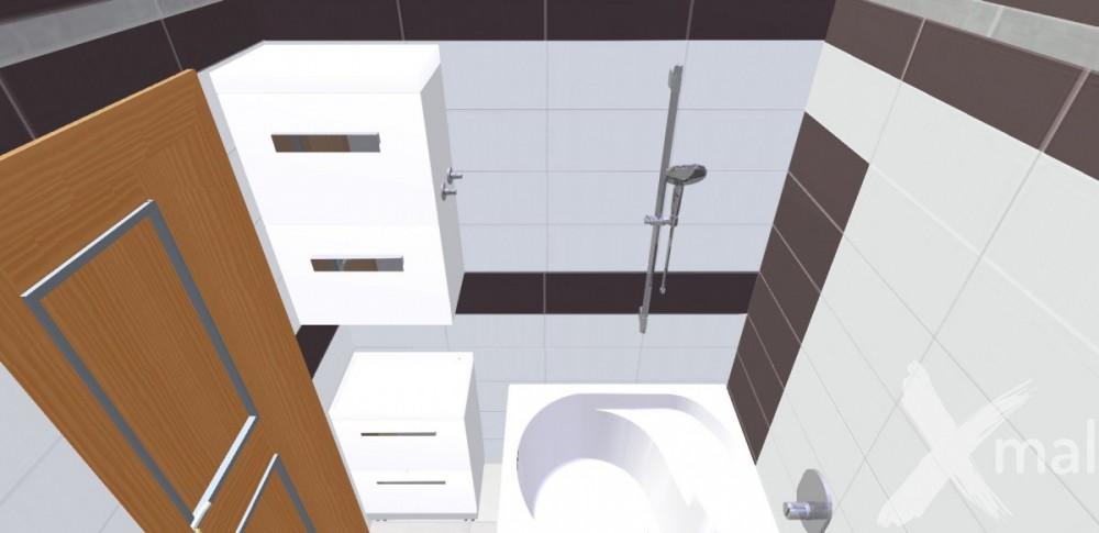 Návrh koupelny panelového bytu