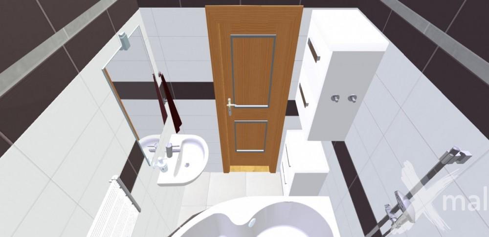 Návrh koupelny při rekonstrukci