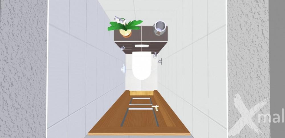 Návrh toalety