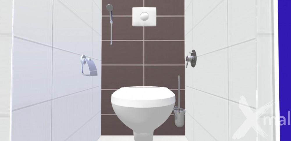 3D návrh interiéru toalety