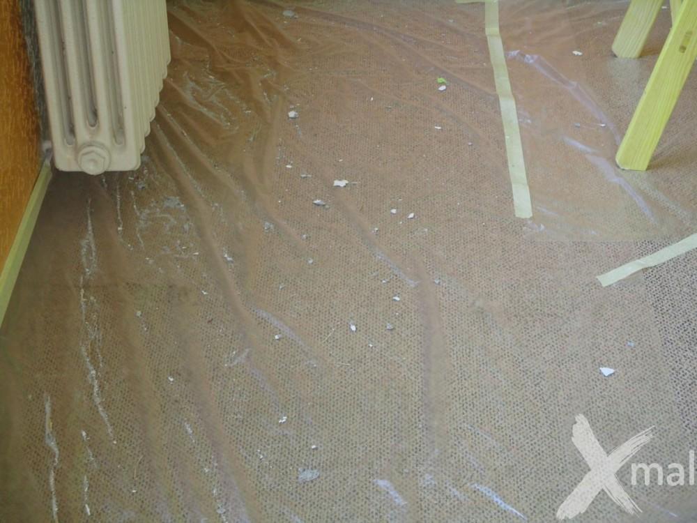zakrytí podlahy před malováním 2