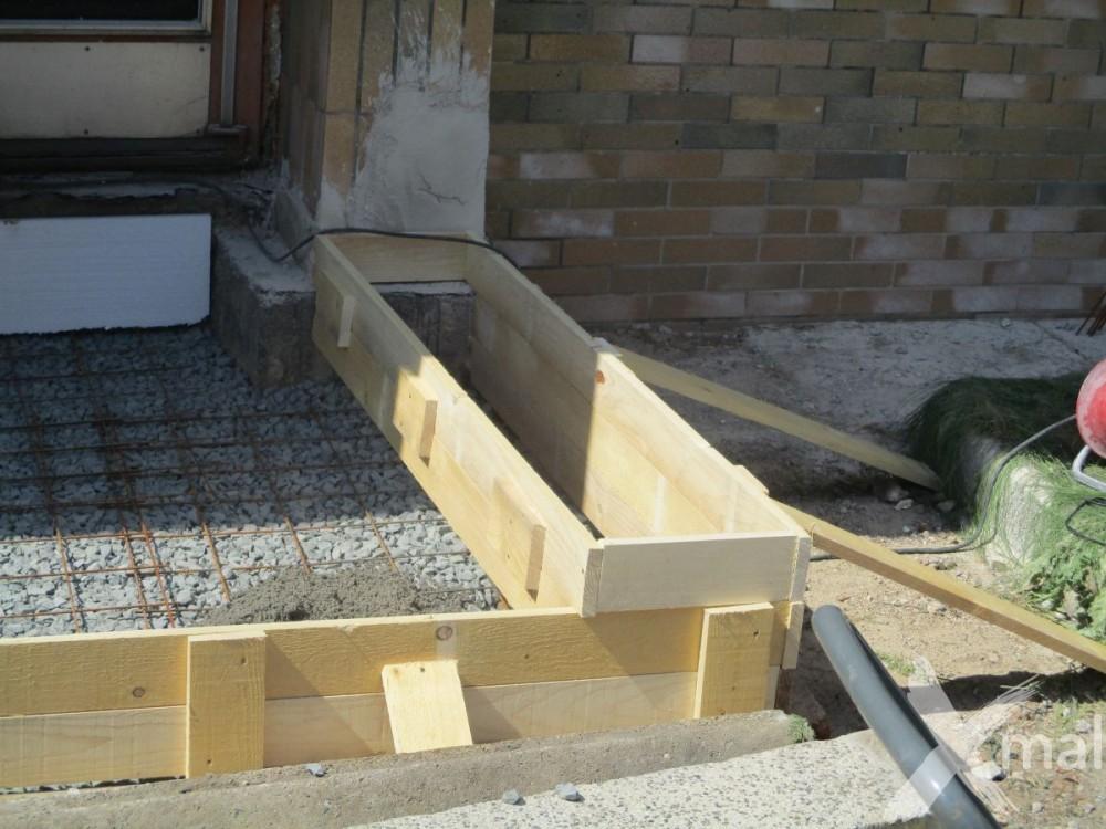 Bednění pro betonovou podlahu