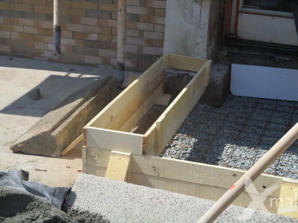 Bednění pro betonové zábradlí
