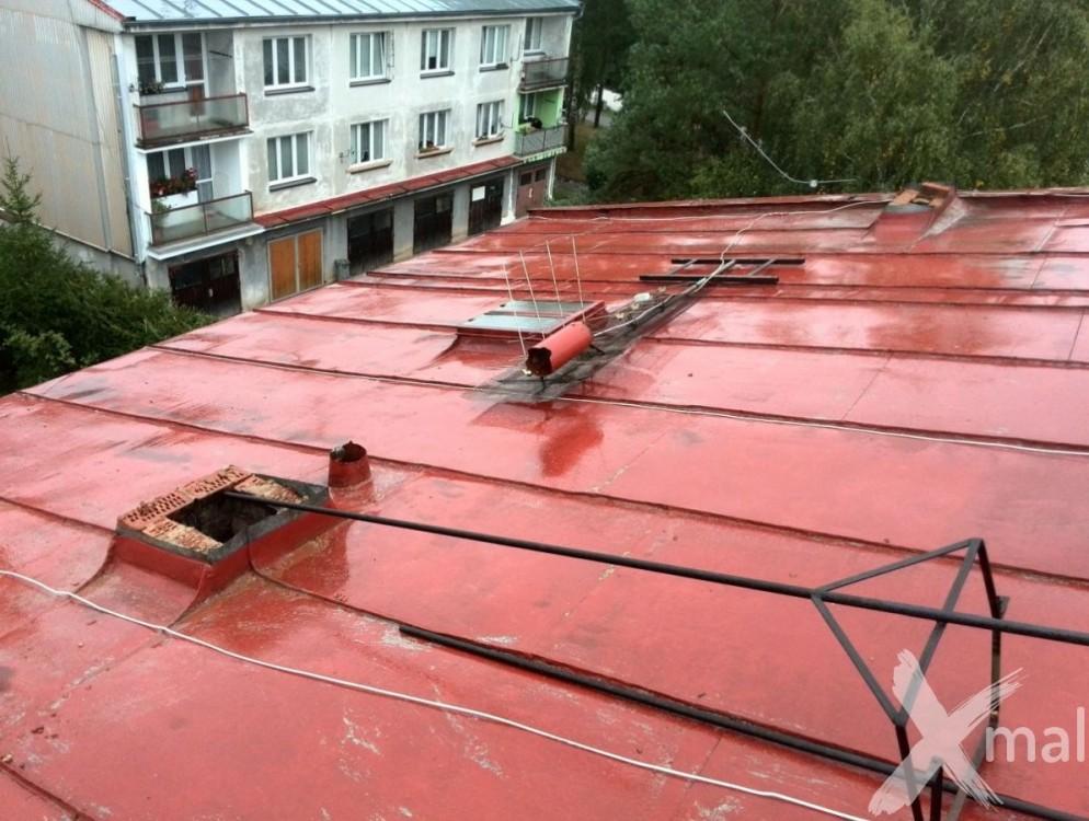 Průběh rekonstrukce komínů bytového domu
