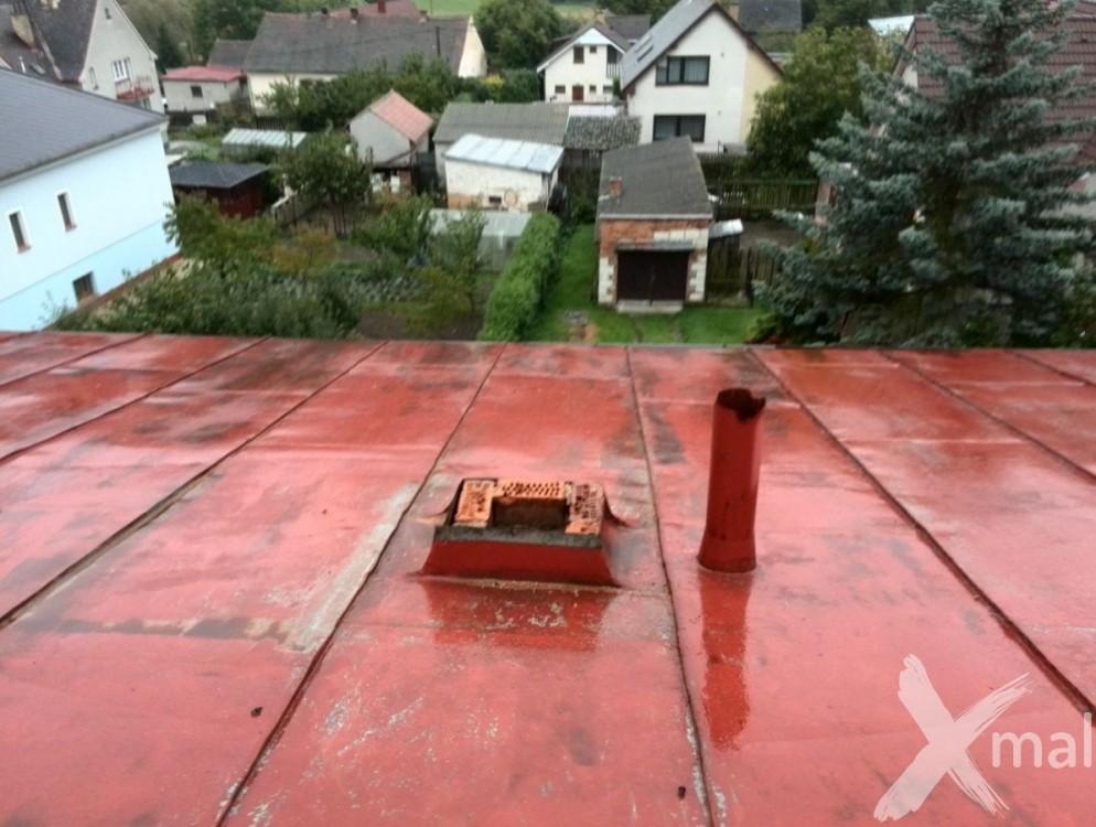 Průběh rekonstrukce komínů bytového domu č1
