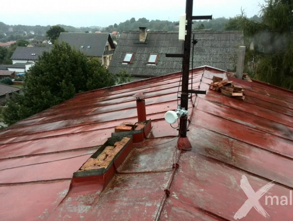 Průběh rekonstrukce komínů bytového domu č2