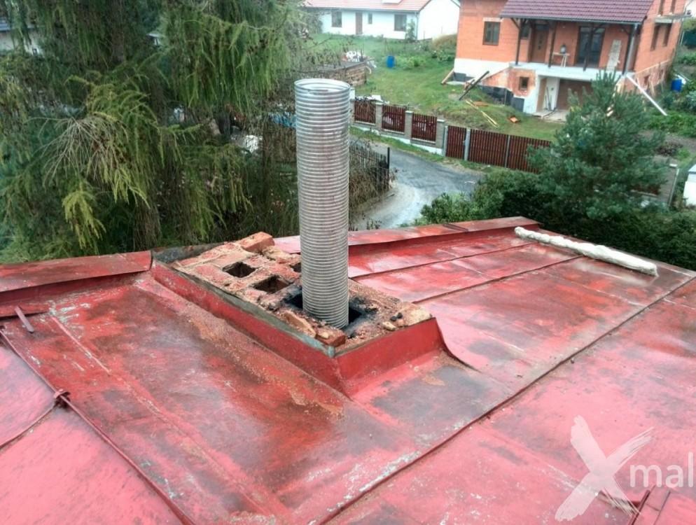Průběh rekonstrukce komínů bytového domu č3