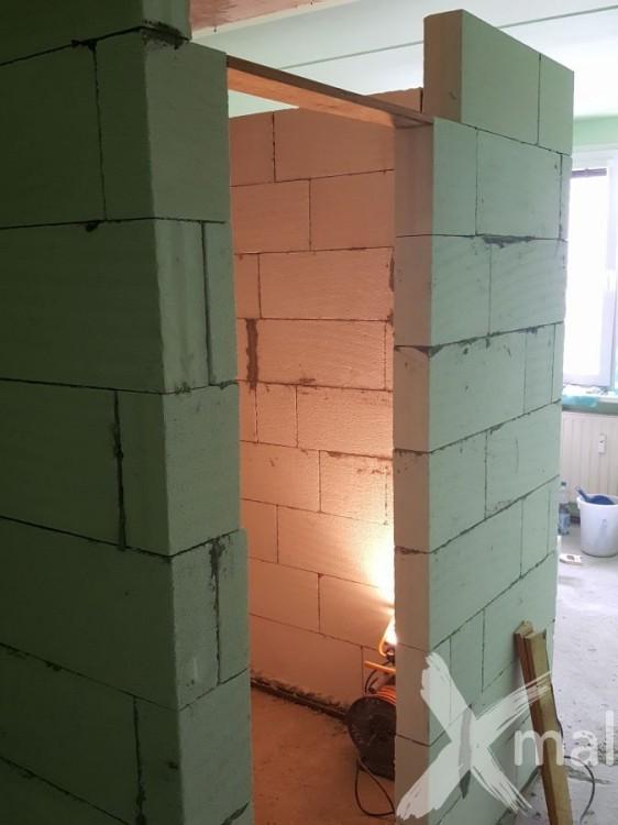 Nové zdi bytového jádra