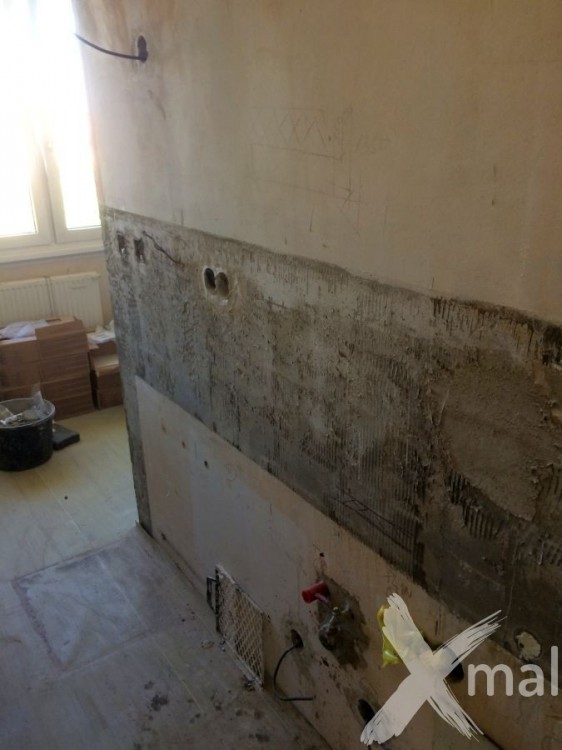 Kuchyňský kout při rekonstrukci bytu