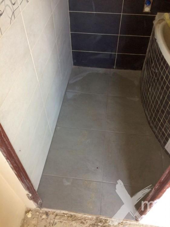 Rekonstrukce koupelny - dlažba