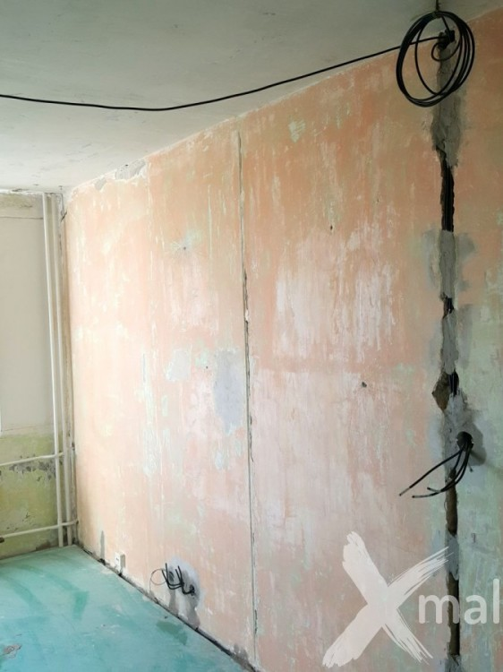 Rozvody elektroinstalace v rekonstruovaném bytě